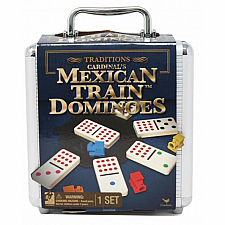 Mexican Train Dominoes in a Case